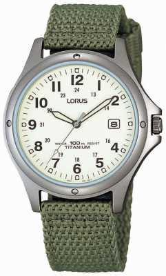 Lorus Мужские аналоговые зеленые полотна RXD425L8