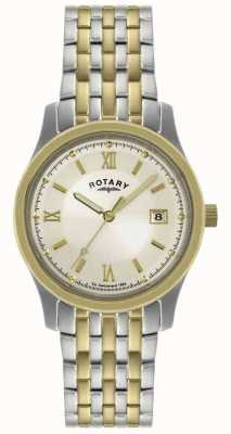 Rotary Мужские двухцветные браслеты из стали GBI0793/09
