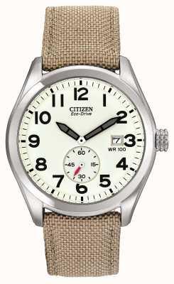 Citizen Мужские часы Eco-Drive с парусиновым ремешком BV1080-18A