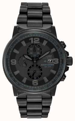 Citizen Мужские монохромные часы eco-drive nighthawk CA0295-58E