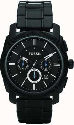 Fossil Мужские черные часы с хронографом FS4552