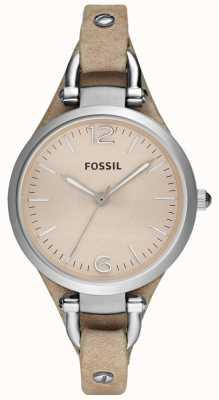 Fossil Женская анальная кожаная ремешка ES2830