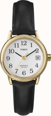 Timex Женские белые черные кожаные ремешки T2H341