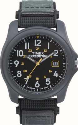 Timex Мужские экспедиции темно-серые лицевые часы с нейлоновым ремешком T42571