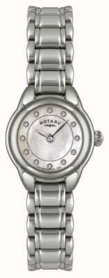 Rotary Ex-display женские каменные часы из нержавеющей стали LB02601/07-EXDISPLAY