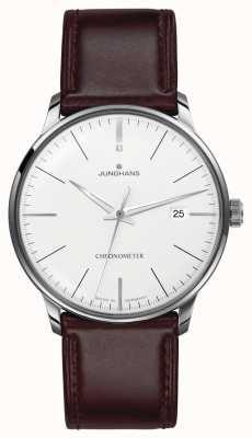 Junghans Mens meister хронометр коричневый кожаный ремешок 027/4130.00