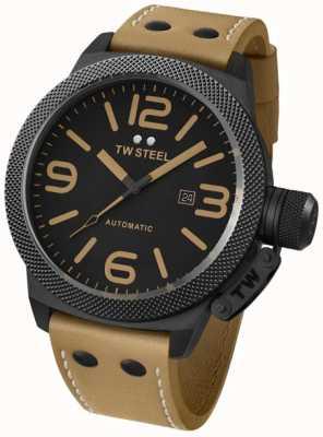 TW Steel Гент-столовая автоматическая 50-мм коричневая кожаная ремешка TWA203
