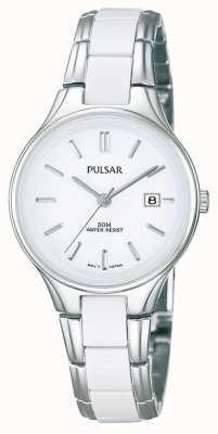 Pulsar Белая керамическая и нержавеющая сталь белого циферблата PH7267X1