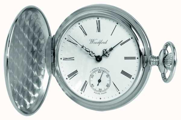 Woodford Часы с хромированным белым циферблатом 1061
