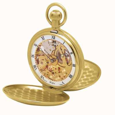 Woodford | скелет охотника | двойная крышка | золотая пластина | карманные часы | 1014