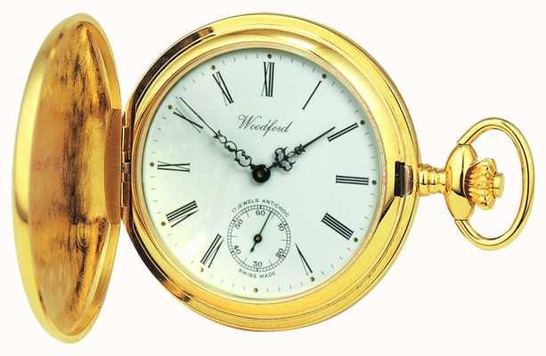 Woodford | полный охотник | позолота | карманные часы | 1016