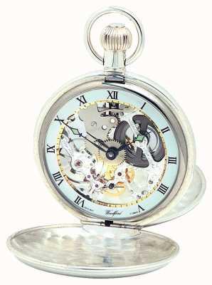 Woodford | скелет охотника | двойная крышка | серебро | карманные часы | 1002