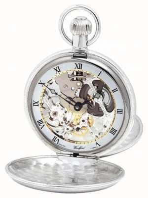 Woodford | скелет охотника | двойная крышка | серебро | карманные часы | 1003