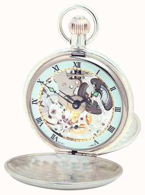 Woodford Серебряная двойная крышка pocketwatch 1066