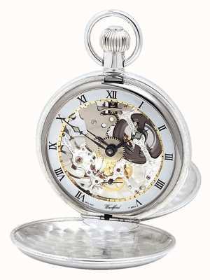 Woodford Серебряные карманные часы с двойной крышкой и цепочкой Альберта 1066