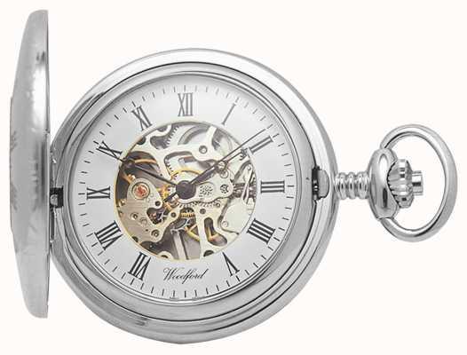 Woodford | полуохотник | хромированный | скелет | карманные часы | 1020