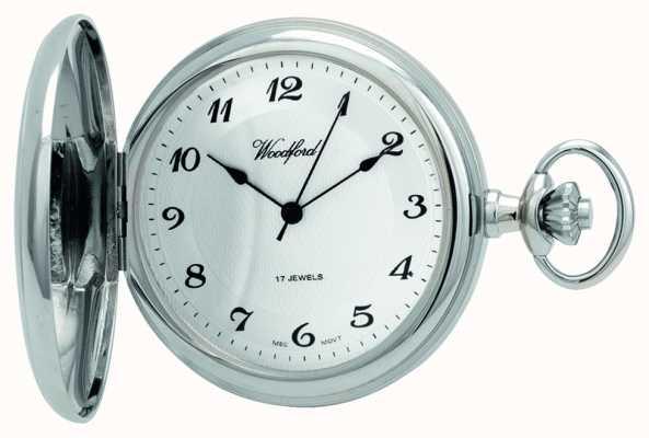Woodford | полный охотник | хромированный | карманные часы | 1027