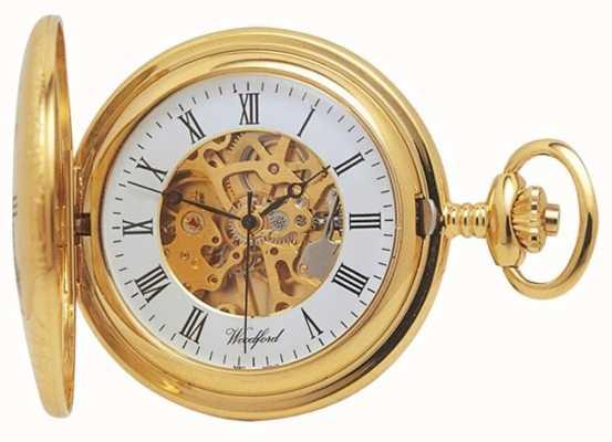 Woodford | полуохотник | позолота | скелет | карманные часы | 1021