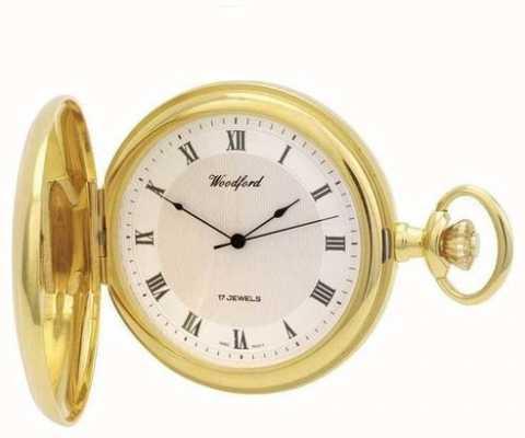 Woodford | полный охотник | позолота | карманные часы | 1028