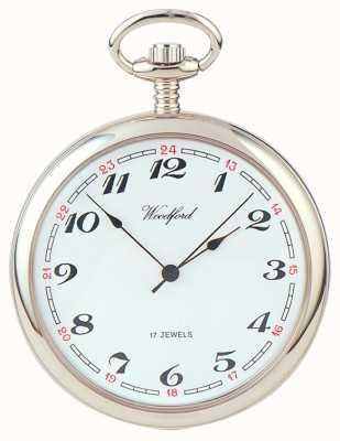 Woodford | открытое лицо | хромированный | карманные часы | 1023