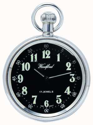 Woodford Механические карманные часы из нержавеющей стали с черным циферблатом 1040