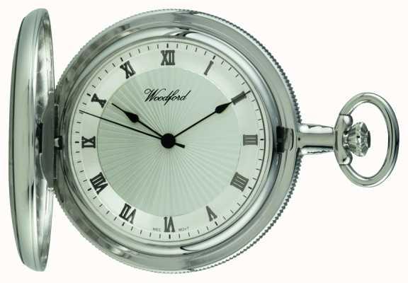 Woodford Механические карманные часы с хромированным серебром 1054