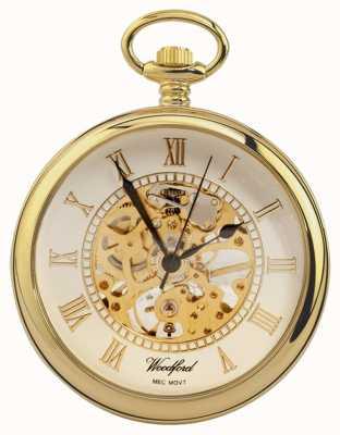 Woodford | открытое лицо | позолота | скелет | карманные часы | 1030