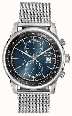 Citizen Нержавеющая сталь темно-синий циферблат с хронографом CA0331-56L