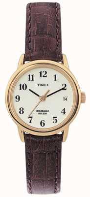 Timex Дамы натуральный коричневый легкий читатель смотреть T20071