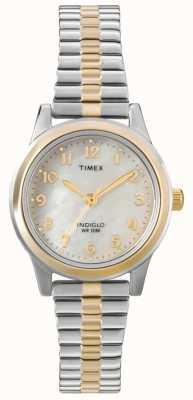 Timex Дамы двух тонов платье расширитель смотреть T2M828