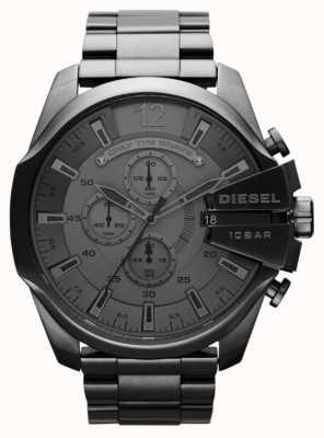 Diesel Мужские мега-черные черные стальные часы DZ4282