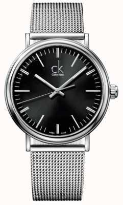 Calvin Klein Мужские наружные черные циферблатные сетчатые ремешки K3W21121