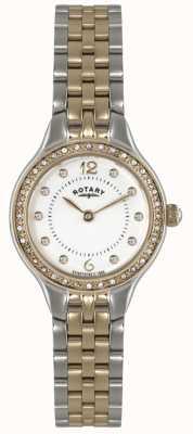 Rotary Женские два тона, хрустальные часы LB02868/01