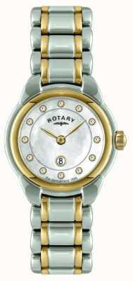 Rotary Дамы двухцветный браслет смотреть LB02602/41L