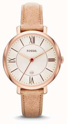 Fossil Женская жаккардовая розовая золотая бежевая ремешок для часов ES3487