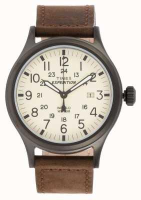 Timex Мужская экспедиция разведчика коричневые часы T49963