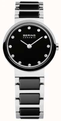 Bering Часы женские черно-серебряные 10725-742