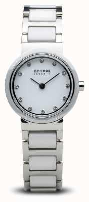 Bering Двухцветные керамические часы минималистский 10725-754