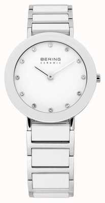 Bering Часы керамические и металлические браслеты 11429-754
