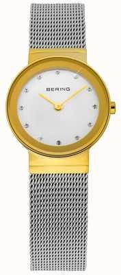 Bering Часы дамы золотые и серебряные классические сетки 10122-001