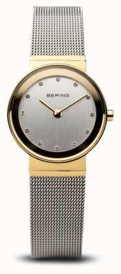 Bering Time Ladies золотая и серебряная классическая сетка 10122-001