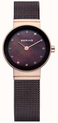 Bering Часы дамы коричневые классические сетчатые часы 10122-265