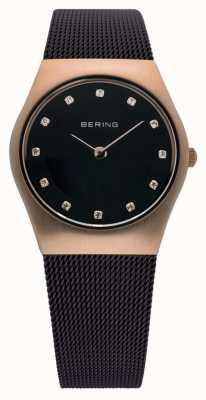 Bering Часы дамы миланские коричневые сетчатые 11927-262