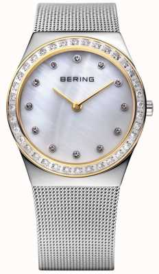 Bering Каменные инкрустированные ультратонкие часы 12430-010