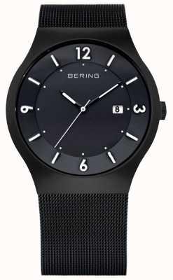 Bering Мужская солнечная энергия, черный ip steel watch 14440-222