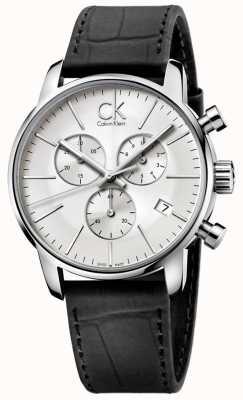 Calvin Klein Мужская нержавеющая сталь и черный серебристый циферблат хронограф K2G271C6