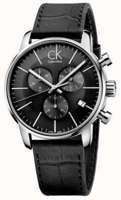 Calvin Klein Мужские черные и нержавеющие кожаные ремешки для часов K2G271C3