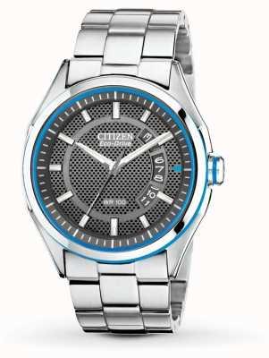 Citizen Мужские эко драйв htm браслет из нержавеющей стали дата часы AW1141-59E