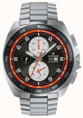 Junghans Ex дисплей mens 1972 хроноскоп солнечные часы из нержавеющей стали 014/4202.44-EX-DISPLAY