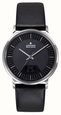 Junghans Mens milano мега солнечная черная нержавеющая сталь 056/4220.00